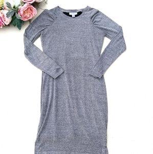 Motherhood Knit Sweater Dress grey medium